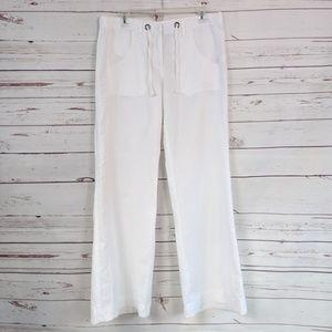 Kenar White Linen/Cotton Pants
